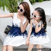 母女裝夏連衣裙雪紡親子裝時尚女童夏季公主裙