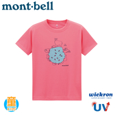 【Mont-Bell 日本 童 Wickron T恤  森的水 短袖排T《玫粉》】1114359/t恤/抗UV