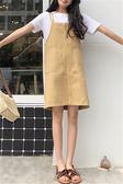 夏裝新款韓版寬鬆學生背帶裙牛仔吊帶連衣裙女短裙潮 米娜小铺
