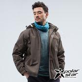 PolarStar 中性 防風保暖外套『軍綠』P18221 戶外 休閒 登山 露營 保暖 禦寒 防風 連帽