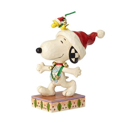 《Enesco精品雕塑》SNOOPY與糊塗塔克聖誕鈴噹好夥伴塑像-Jingle Bell Buddies(Peanuts by Jim Shore)_EN96025
