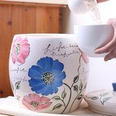 DFC陶瓷米桶10kg裝米桶儲米箱家用面粉儲物罐5kg創意米缸帶蓋20斤【快速出貨八五折】JY