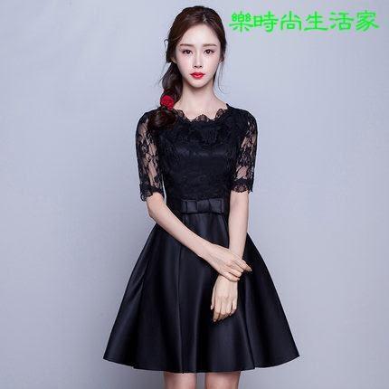 2017結婚 婚宴 修身顯瘦禮服連衣裙HA064