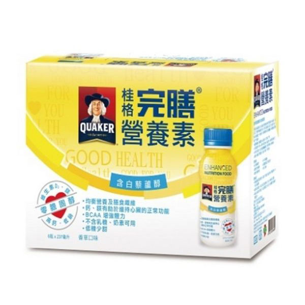 QUAKER 桂格 完膳營養素(含白藜蘆醇配方) 237ml*6入