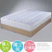 雙人床墊《YoStyle》麗莎三線記憶膠獨立筒床墊-雙人5尺 租屋 套房  宿舍 適用雙人床架 床台 掀床