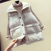 花兔子服飾羽絨棉簡約設計背心外套 (早秋特價390元) 原價590 大碼