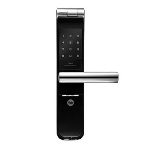 【耶魯Yale電子鎖】Yale YMF40熱感觸控指紋密碼電子鎖---全台安裝