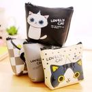 【BlueCat】lovely Cat貓咪大集合皮質方形零錢包