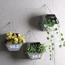 美式鄉村客廳陽臺墻上做舊干花壁掛花架多功能省空間懸掛墻壁掛式