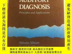 二手書博民逛書店Auditory罕見Diagnosis: Principles And Applications-聽覺診斷:原理與