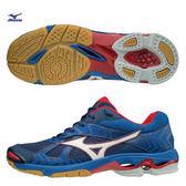 MIZUNO WAVE BOLT 7 男鞋 排球鞋 透氣  網布 耐磨 高避震 藍 白 紅【運動世界】 V1GA186027