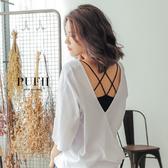 限量現貨◆PUFII-小可愛 細肩交叉美背網狀造型小可愛背心 3色-0315 現+預 春【CP14254】