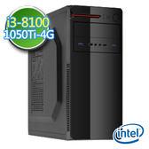 技嘉B360平台【睿智曜石】i3四核 GTX1050Ti-4G獨顯 1TB效能電腦
