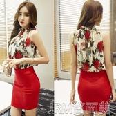 2020夏裝新款韓版女裝夜店性感緊身包臀氣質顯瘦雪紡收腰連衣裙潮 簡而美