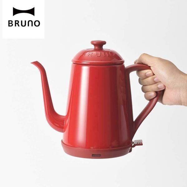 【南紡購物中心】BRUNO 1L復古造型電熱水壺 細口快煮壺-紅色 BOE072