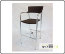 {{ 海中天休閒傢俱廣場 }} G-52 戶外時尚 鋁合金桌椅系列 65-9 扶手吧台椅