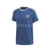 adidas 短袖T恤 3-Stripes Tee 藍 白 男款 短T 運動休閒 【ACS】 FM3772