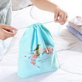 ✭慢思行✭【Y50】印花整理抽繩收納袋(12入) 整理袋 束口 出差 花環 雜物 旅行 防水裝