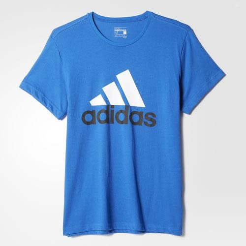 Adidas~ ClimaLite系列  棉質 短T恤-藍 (AY6229)
