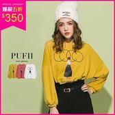 PUFII-上衣 COCO女孩泡袖T恤上衣 3色-1011 現+預 秋【CP15321】