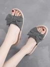 防滑拖鞋 夏季亞麻家用拖鞋女室內涼拖鞋女士居家靜音地板可愛防滑 晶彩 99免運