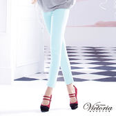 Victoria 天絲棉窄直筒褲-女-水藍