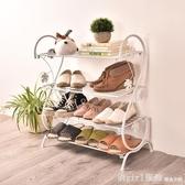 歐式鐵藝鞋架創意多層收納鞋架宿舍防塵簡易拖鞋架鞋櫃 韓慕精品 YTL