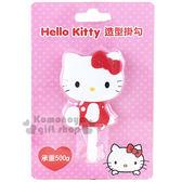 〔小禮堂〕Hello Kitty 貼式 掛勾《紅側坐泡殼》耐重500g 8021057 3