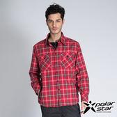 PolarStar 珊瑚絨格子保暖衣 中性 紅 P14209