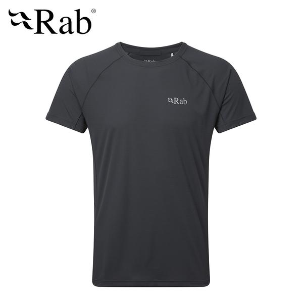 英國 RAB Pluse SS Tee 透氣短袖排汗衣 男款 烏木灰 #QBU79