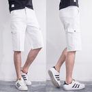質感純白簡約設計多袋短褲.工作褲
