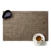 北歐風格 長方形隔熱防滑PVC亞麻系餐墊-深棕