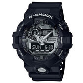 G-SHOCK 創新突破金屬感強悍視覺休閒j腕錶-黑X銀