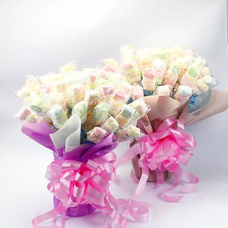 幸福婚禮小物❤DIY豐富50入棉花糖❤二次進場/會場佈置/送客禮/棉花糖