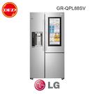 含安裝 LG 樂金 GR-QPL88SV 冰箱 InstaView™ 敲敲看門中門冰箱 星辰銀 / 761公升 公司貨