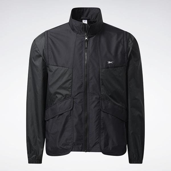Reebok LIFUL MINIMAL GARMENTS 男裝 立領外套 背心 聯名 口袋 黑【運動世界】GU3663