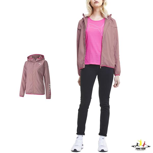 Puma 女款 粉色 外套 防風外套 連帽外套 運動 休閒 風衣外套 58220716