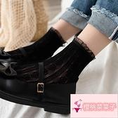 2雙 蕾絲襪日系鏤空可愛愛心洛麗塔襪子甜美花邊短筒中筒襪【櫻桃菜菜子】