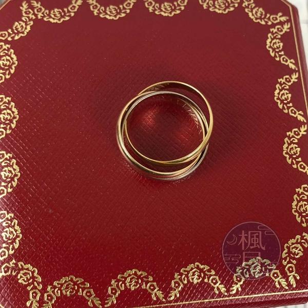 BRAND楓月 Cartier 卡地亞 K18 B4086150 三環戒 #50 4.8G 戒指 配飾 配件 飾品