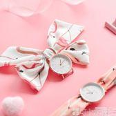 手錶 簡約火烈鳥絲帶手錶女學生韓版簡約小清新腕錶潮流ulzzang石英錶 可卡衣櫃