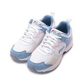 FILA 復古拼接老爹鞋 白粉藍 5-J334V-153 女鞋