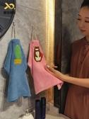 擦手巾 可愛吸水掛式擦手巾 北歐創意家用卡通非純棉廚房插手毛巾搽【限時八折】