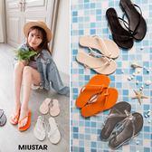 ★現貨★MIUSTAR 時尚交叉海邊度假夾腳拖鞋(共4色,36-39)【NF3416T1】