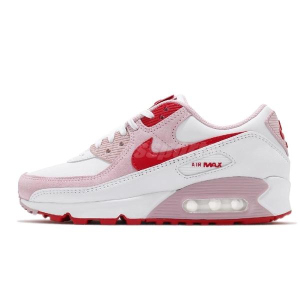 NIKE 休閒鞋 Wmns Air Max 90 QS Valentine's Day 粉紅 愛心 情人節 男鞋 女鞋 【ACS】 DD8029-100
