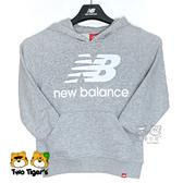 New Balance NB童裝 秋冬 灰色 LOGO 帽T 長袖 上衣 童裝 NO.H2595