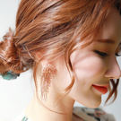 Qmigirl 歐美復古手工串珠花朵流蘇大耳環 煙花透明水晶誇張耳飾度假風【QG073】