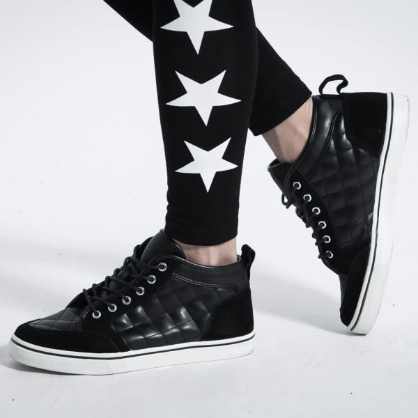 【韓式作風】*SW770 MIT純正磨砂牛皮,上漿電繡高筒休閒鞋(二色)