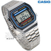 CASIO卡西歐 A168WA-1W 復古時尚風 大型數字數位電子錶 男錶 防水手錶 銀 A168WA-1WDF