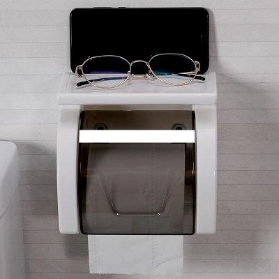 廁所衛生間面紙盒免打孔卷紙筒浴室衛生紙置物架防潑水創意衛生紙盒