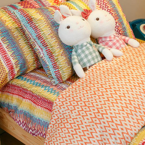 吃一口彩虹 枕套乙個 100%精梳棉 台灣製
